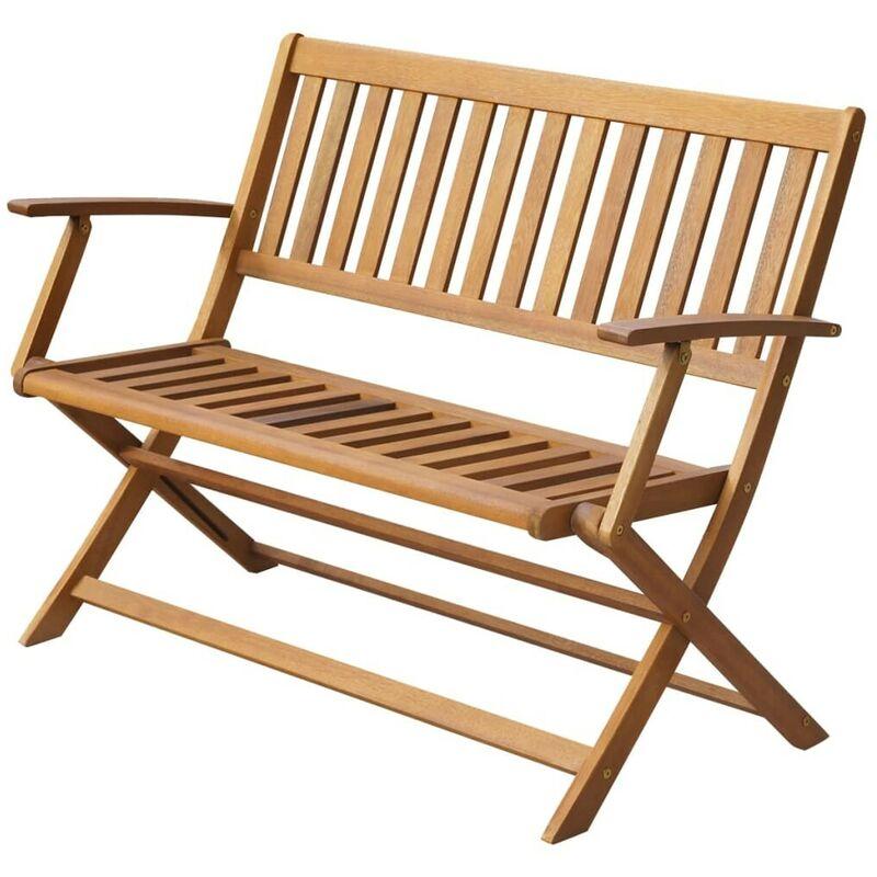 Gartenbank 120 cm Massivholz Akazie 28339 - Topdeal