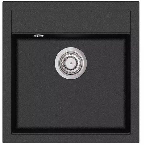 Topdeal Granite Kitchen Sink Single Basin Black VDTD04962