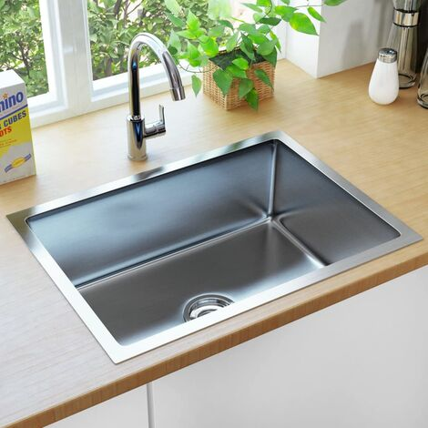 Topdeal Handmade Kitchen Sink with Strainer Stainless Steel VDTD34969