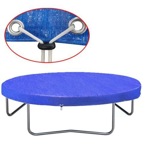 Topdeal Housse de trampoline PE 360-367 cm 90 g/m2
