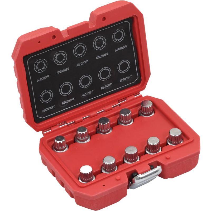 Topdeal VDTD07922_FR Jeu de clés pour écrou de blocage de roue 10 pcs pour VW