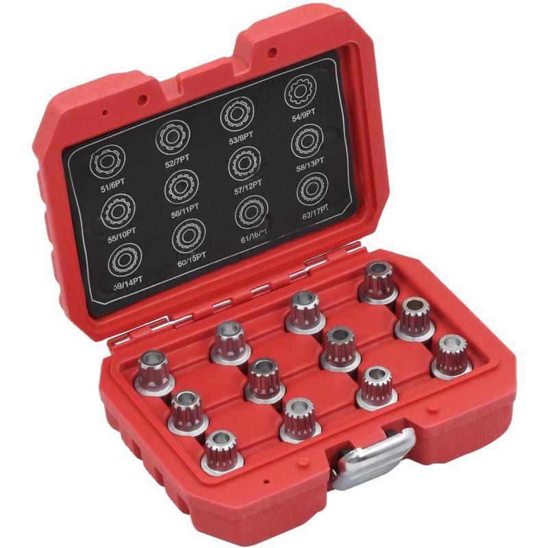 Topdeal VDTD07924_FR Jeu de clés pour écrou de blocage de roue 12 pcs pour VW