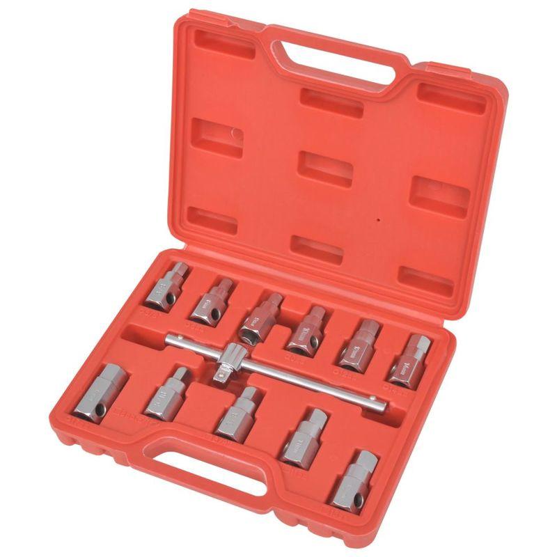 Topdeal VDTD07614_FR Kit de clés de carter de vidange d'huile 3/8'