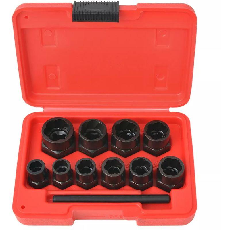 VDTD07815_FR Kit d'extracteur de boulons/d'écrous endommagés Acier 11 pcs - Topdeal