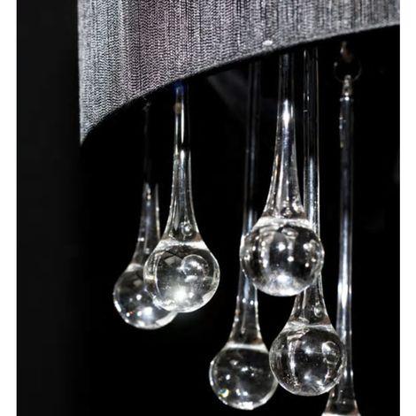 Topdeal Lustre avec 85 cristaux Noir - VDTD30890_FR