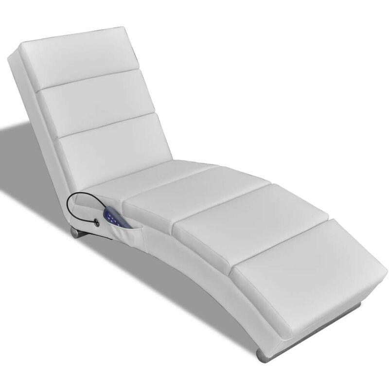 Topdeal Massagesessel Weiß Kunstleder 08464