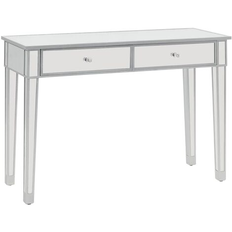 Topdeal Mirrored Console Table MDF and Glass 106.5x38x76.5 cm VDTD12585