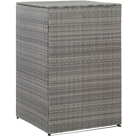 Topdeal Mülltonnenbox für 1 Tonne Anthrazit 76x78x120 cm Poly Rattan 45637