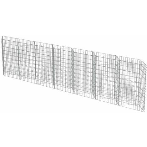 Topdeal Mur de gabion Acier galvanisé 450 x 30 x 100 cm