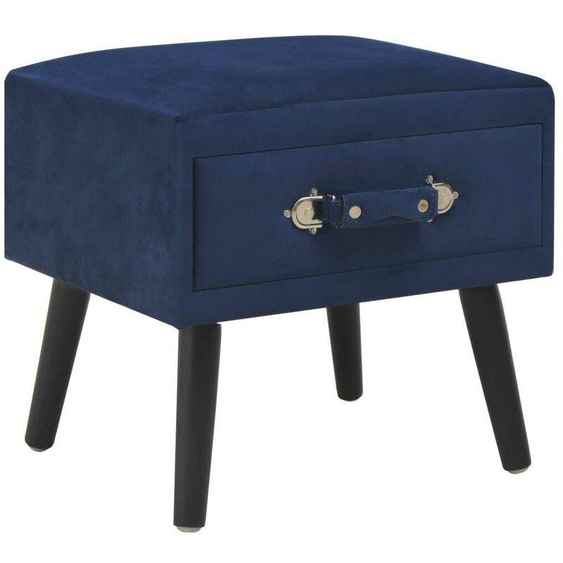 Nachttisch Blau 40 x 35 x 40 Samt 13394 - Topdeal