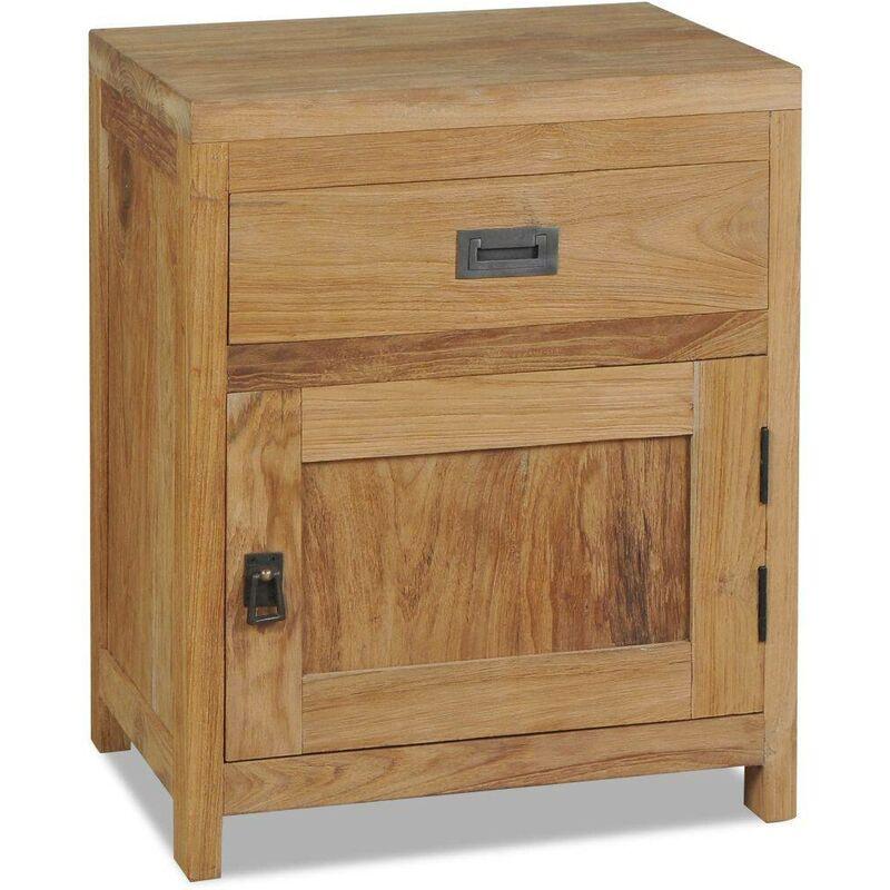 Topdeal Nachttisch Massivholz Teak 40x30x50 cm 10587