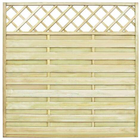 Topdeal Panneau de clôture de jardin avec treillis Bois FSC 180x180 cm