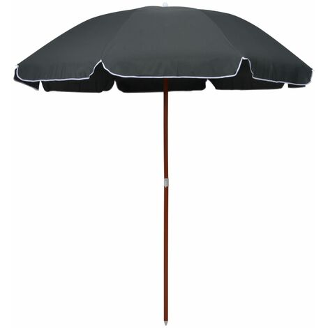 Topdeal Parasol with Steel Pole 240 cm Anthracite VDTD46170