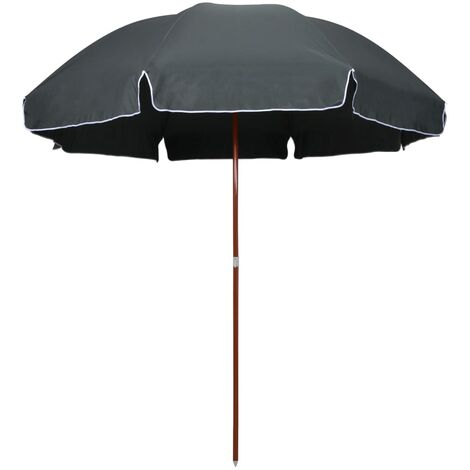 Topdeal Parasol with Steel Pole 300 cm Anthracite VDTD46171