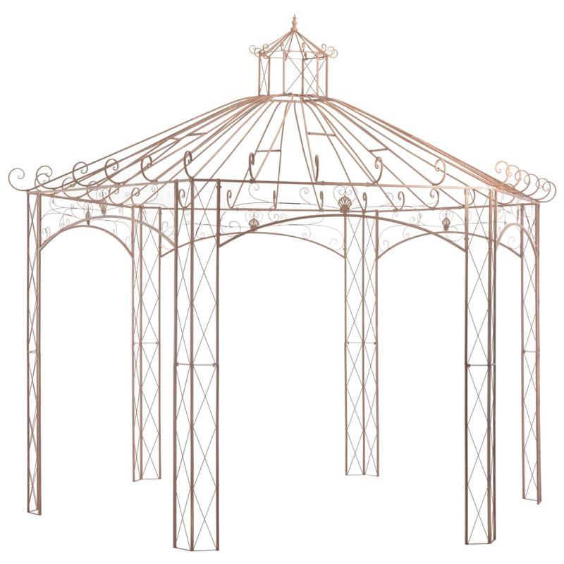 VDTD29571_FR Pavillon de jardin Marron antique 4 m Fer - Topdeal