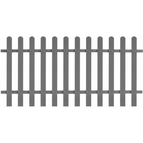 Topdeal Picket Fence WPC 200x100 cm VDTD27297