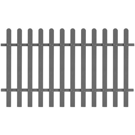 Topdeal Picket Fence WPC 200x120 cm VDTD27298