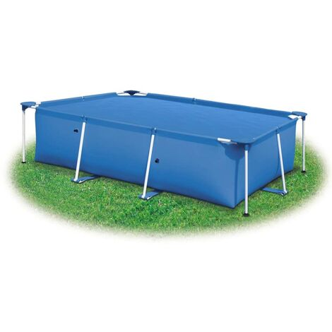 Topdeal Poolabdeckung Blau 488x244 cm PE 32996