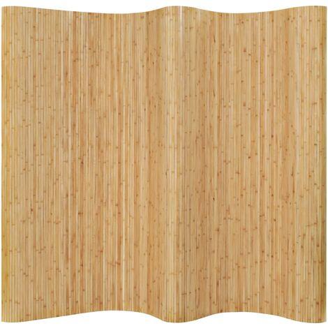 Topdeal Room Divider Bamboo 250x195 cm Natural VDTD13111