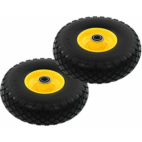 Topdeal Sack Truck Wheels 2 pcs Solid PU 3.00-4 (260x85) VDTD04990