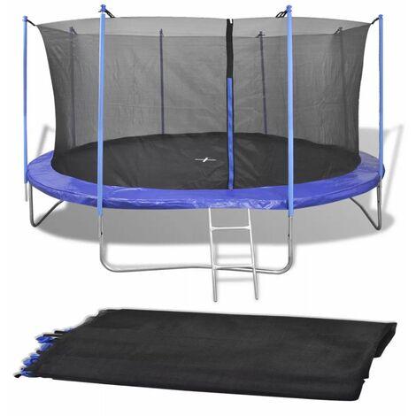 Topdeal Safety Net PE Black for 4.57 m Round Trampoline VDTD04294