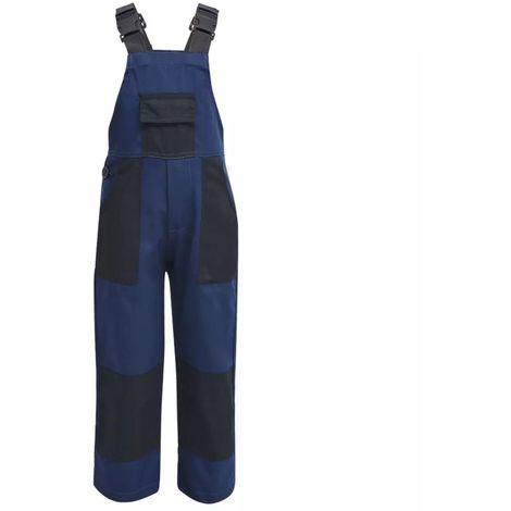 Topdeal Salopette à bavette pour enfants Taille 134 / 140 Bleu