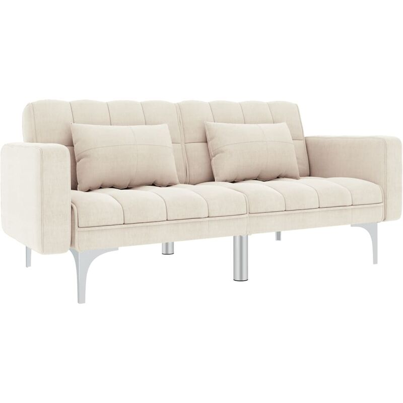 Topdeal Schlafsofa Creme Stoff 13130