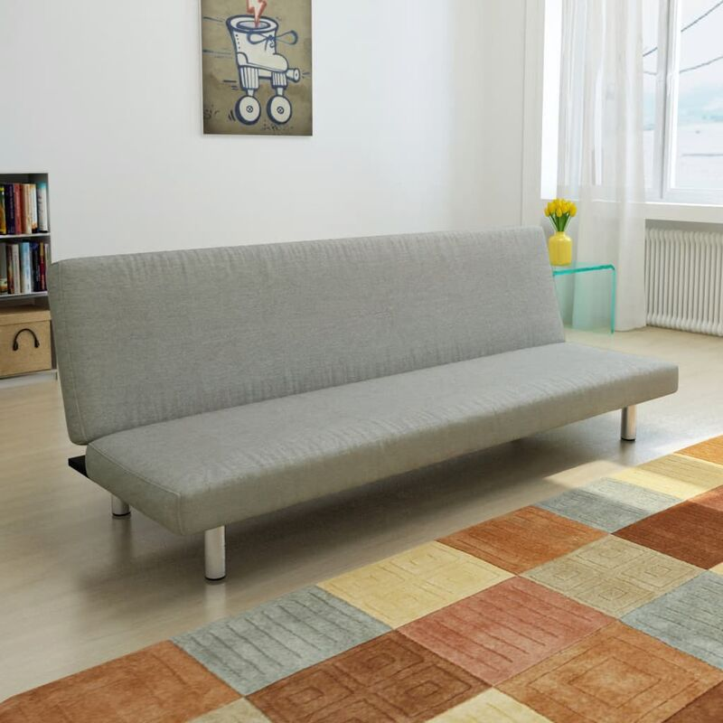 Schlafsofa Grau Polyester 08891 - Topdeal