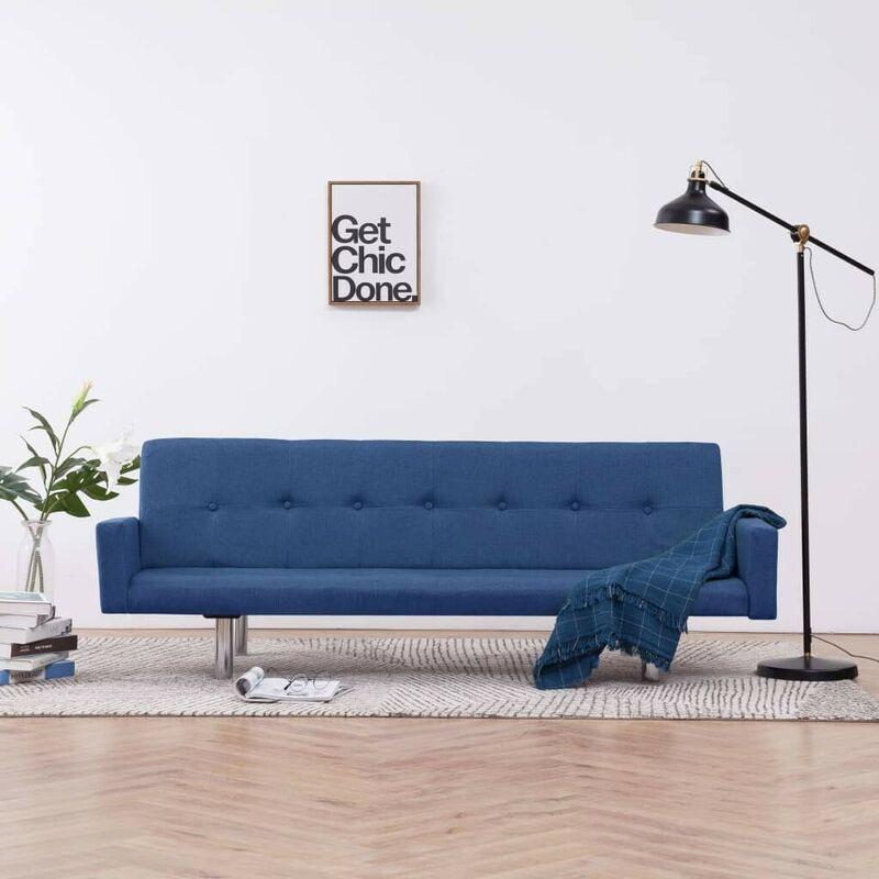 Schlafsofa mit Armlehnen Blau Polyester 23506 - Topdeal