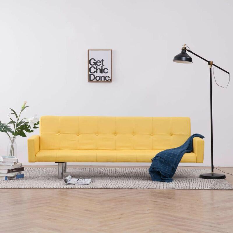 Schlafsofa mit Armlehnen Gelb Polyester 23509 - Topdeal