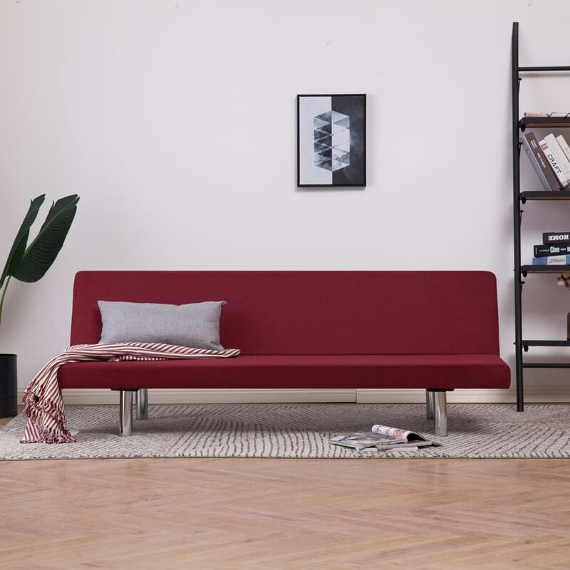 Schlafsofa Weinrot Polyester 23485 - Topdeal