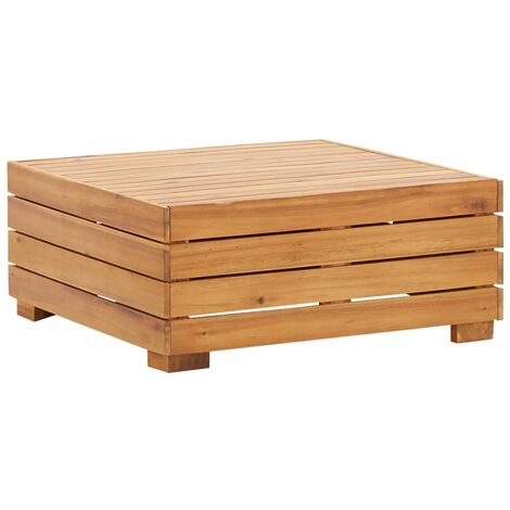 Topdeal Sectional Table 1 pc Solid Acacia Wood VDTD45629