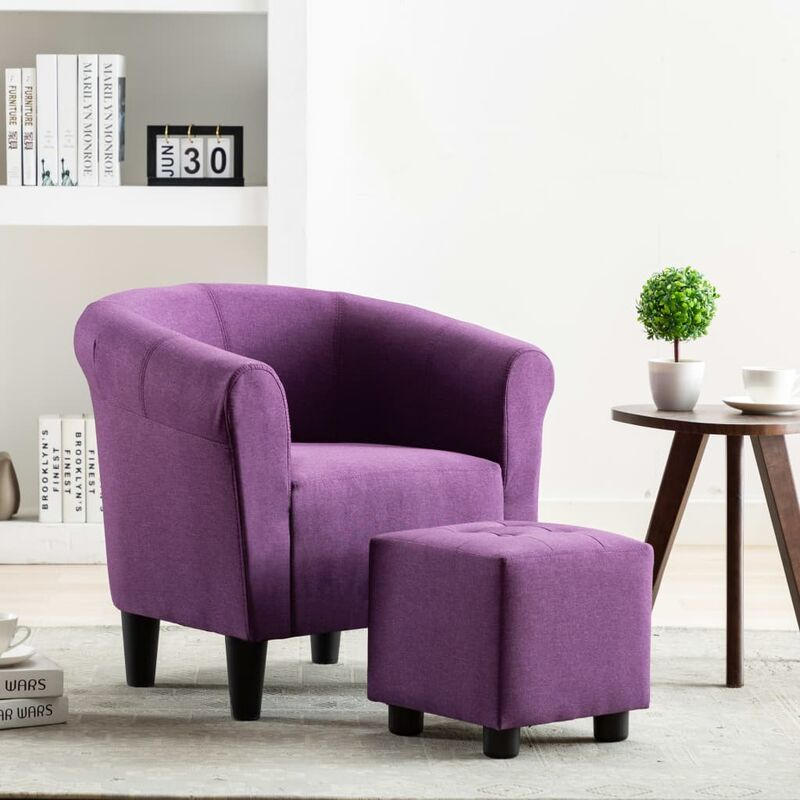 Topdeal Sessel Lila Stoff 13871