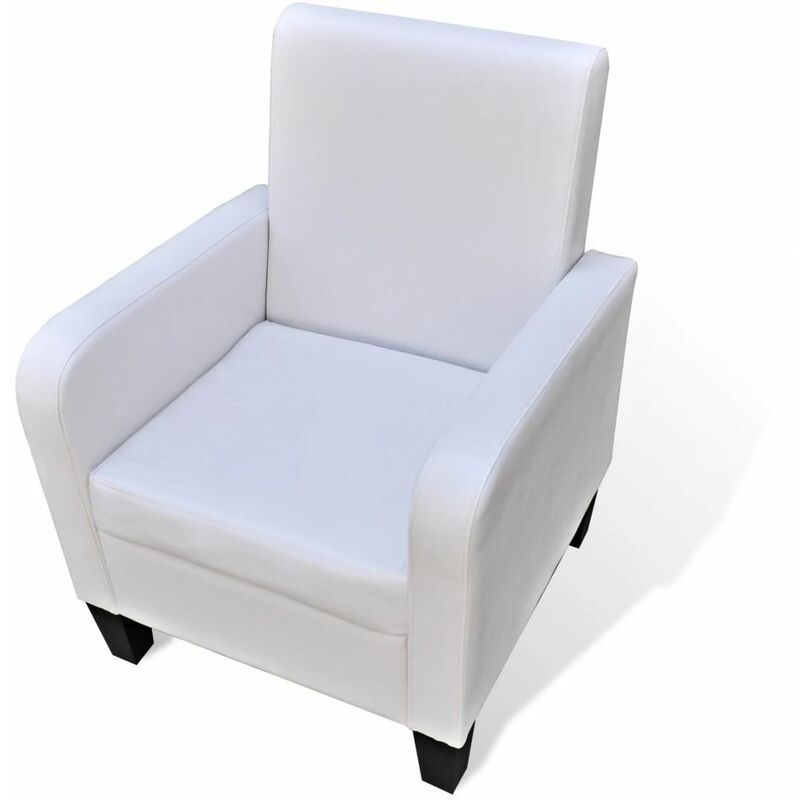 Sessel Weiß Kunstleder 08546 - Topdeal