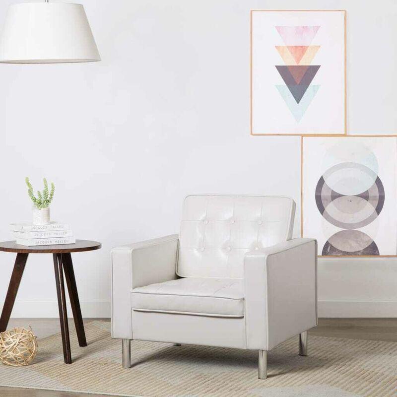 Sessel Weiß Kunstleder 12934 - Topdeal