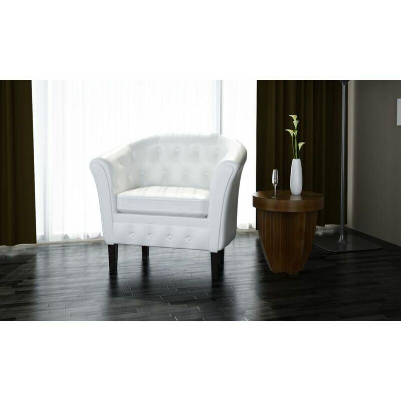 Topdeal Sessel Weiß Kunstleder 30962