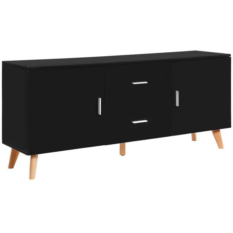 Sideboard Schwarz 160x40x70 cm MDF 13196 - Topdeal