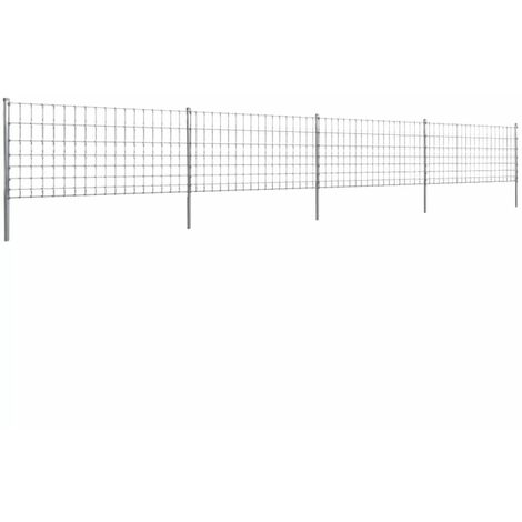 Topdeal Step-In Fence with Posts Zinc-coated Iron 50 m 100/8/15 VDTD14924