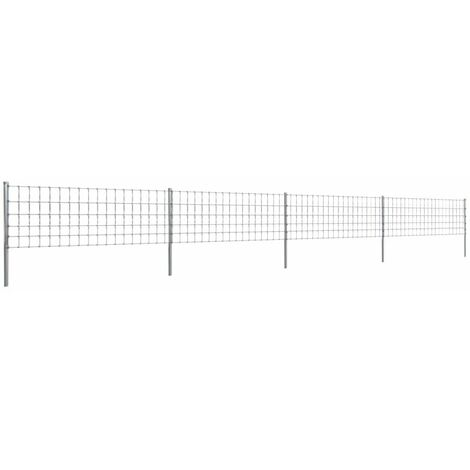 Topdeal Step-In Fence with Posts Zinc-coated Iron 50 m 80/6/15 VDTD14923