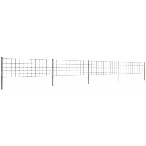 Topdeal Step-In Fence with Posts Zinc-coated Iron 50 m 80/6/30 VDTD14919
