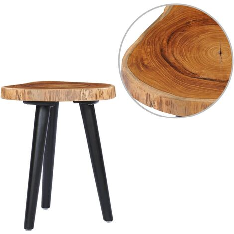 Topdeal Table basse 40x45 cm Teck solide