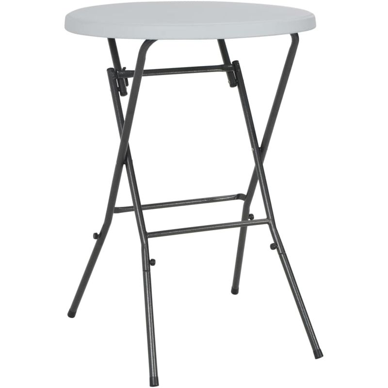 VDTD28752_FR Table de bar pliante Blanc 80 x 110 cm PEHD - Topdeal