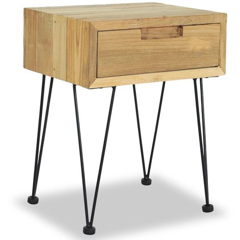 Topdeal Table de chevet 40 x 30 x 50 cm Teck