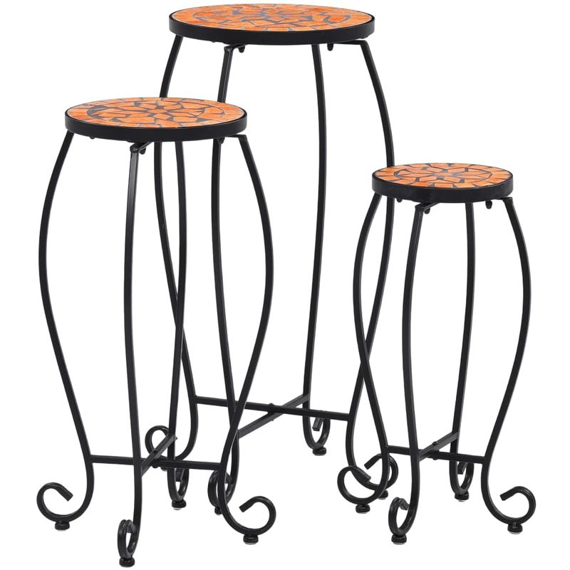 VDTD30063_FR Tables mosaïque 3 pcs Terre cuite Céramique - Topdeal