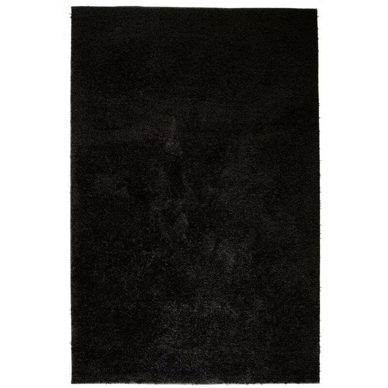 Topdeal VDTD02105_FR Tapis à poils longs 80 x 150 cm Noir