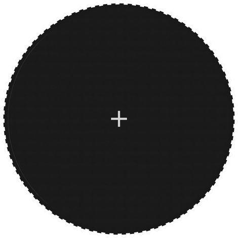 Topdeal Tapis de saut Tissu Noir pour trampoline rond de 4,57 m