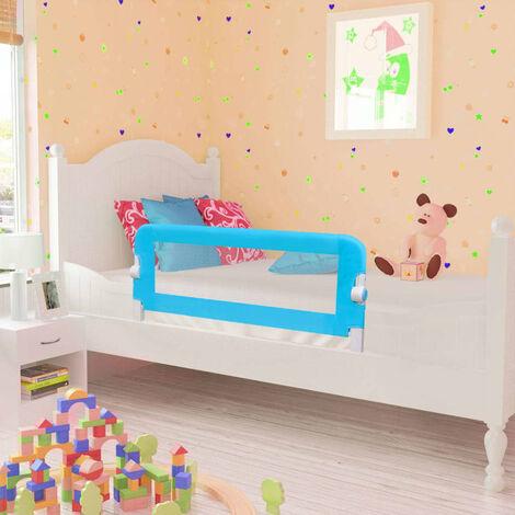 Topdeal Toddler Safety Bed Rail 2 pcs Blue 102x42 cm VDTD18976