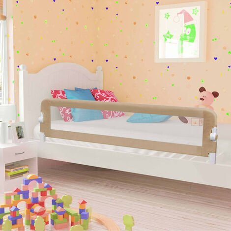 Topdeal Toddler Safety Bed Rail Blue 180x42 cm Polyester VDTD00088