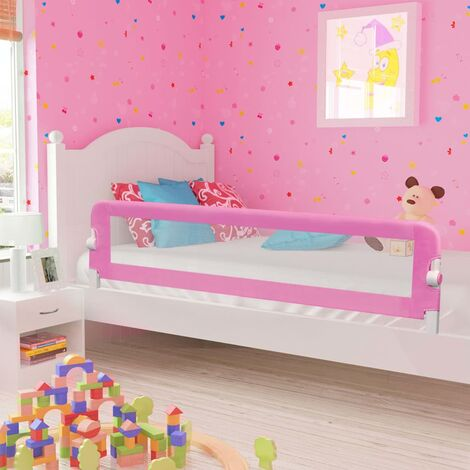 Topdeal Toddler Safety Bed Rail Green 180x42 cm Polyester VDTD00084