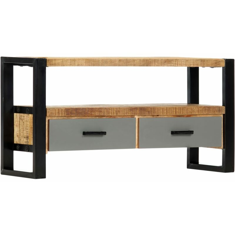 Topdeal TV-Schrank 100 x 30 x 50 cm Mango-Massivholz 13861